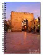 Historic Door In Granada Elvira Arch Spiral Notebook