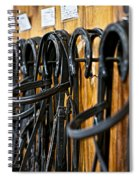 Horse Bridles Hanging In Stable Spiral Notebook