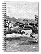 Horse Racing, 1900 Spiral Notebook