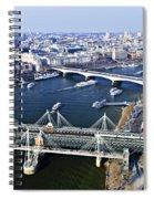 Hungerford Bridge Seen From London Eye Spiral Notebook