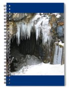 Icicle Falling Spiral Notebook
