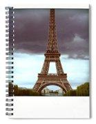Illustration Of Eiffel Tower Spiral Notebook