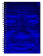 In Your Face In Negative Blue Spiral Notebook