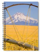 Irrigation Pipe In Wheat Field With Spiral Notebook
