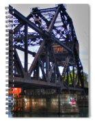 Jack-knife Bridge At Erie Canal Harbor Spiral Notebook