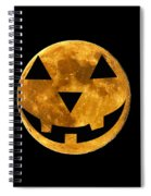 Jack-o-lantern Moon Spiral Notebook