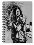Janis In Black And White Spiral Notebook