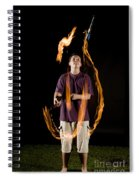 Juggling Fire Spiral Notebook