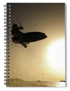 Kitesurfing At Sunset Spiral Notebook