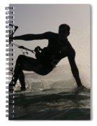 Kitesurfing Board Spiral Notebook