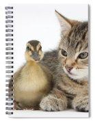 Kitten And Duckling Spiral Notebook