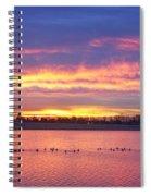 Lagerman Reservoir Sunrise Spiral Notebook