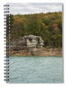 Lake Superior Pictured Rocks 49 Spiral Notebook