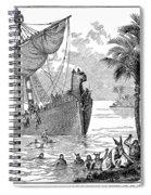 Landing Of Leif Ericsson Spiral Notebook