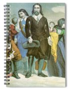 Landing Of The Pilgrims At Plymouth Spiral Notebook