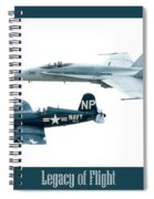 Legacy Of Flight Spiral Notebook