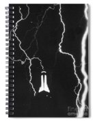 Lightning Strikes Empire State Spiral Notebook