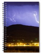 Lightning Striking Over Ibm Boulder Co 2 Spiral Notebook