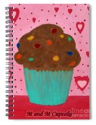 M And M Cupcake Spiral Notebook