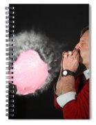 Man Over Inflating A Balloon Spiral Notebook
