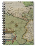 Map Of North And South America Spiral Notebook