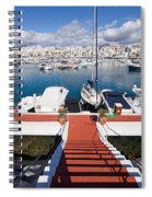 Marina In Puerto Banus Spiral Notebook