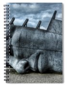 Maritime Memorial Cardiff Bay Spiral Notebook