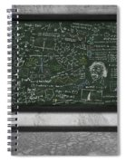 Maths Formula On Chalkboard Spiral Notebook