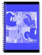 Mickey In Negative Light Blue Spiral Notebook