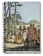 Missionary And Native Americans Spiral Notebook