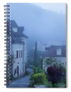 Misty Dawn In Saint Cirq Lapopie Spiral Notebook