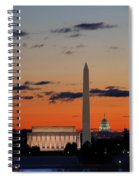 Monuments At Sunrise Spiral Notebook