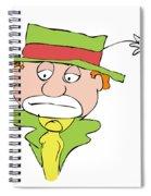 Mournful Clown Spiral Notebook