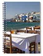 Mykonos Spiral Notebook