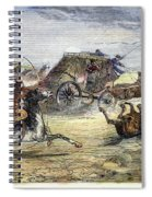 Native American Attack On Coach Spiral Notebook
