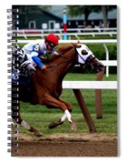 Neck And Neck At Saratoga One Spiral Notebook