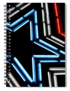 Neon Star Spiral Notebook