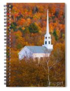 New England Church In Autumn Spiral Notebook
