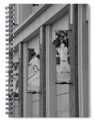 New York Mets Of Old In Black And White Spiral Notebook