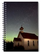 Night Church Northern Lights Spiral Notebook