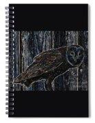 Night Owl - Digital Art Spiral Notebook