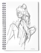 Nude Male Sketches 3 Spiral Notebook