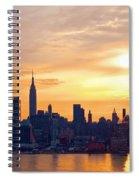 Ny Skyline Sunrise Gold Spiral Notebook