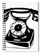 Old Analogue Phone Spiral Notebook