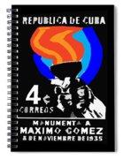 old Cuban postage stamp Spiral Notebook