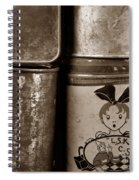Old Fashioned Iron Boxes. Spiral Notebook