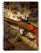 Old Gun On Old Map Spiral Notebook