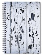 Old Painted Wood Abstract Spiral Notebook