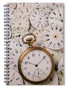 Old Pocket Watch On Dail Faces Spiral Notebook