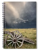 Old Prairie Wheel Cart Saskatchewan Spiral Notebook